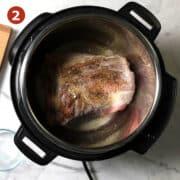 pork shoulder sauteeing instant pot step2