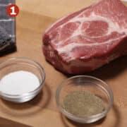 raw pork shoulder step1