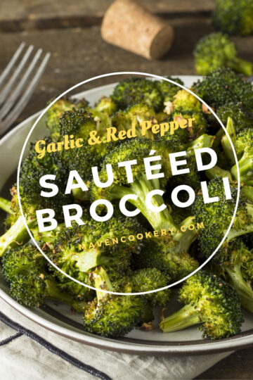 Sautéed Broccoli with garlic, red chili flakes and olive oil. Seasoned with salt and pepper. #broccoli #sauteedbroccoli #sidedish #healthysidedish #healthy #garlic #redpepper #broccolirecipes #sauteedbroccolirecipes #healthysidedish #broccolirecipessidedish