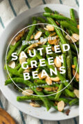 Sautéed Green Beans with brown butter and slivered almonds. #broccoli #sauteedbroccoli #sidedish #holidaysidedish #easysidedish #healthysidedish #recipes #healthyrecipes #healthycooking #easyrecipes #vegetablesidedish #broccolisidedish