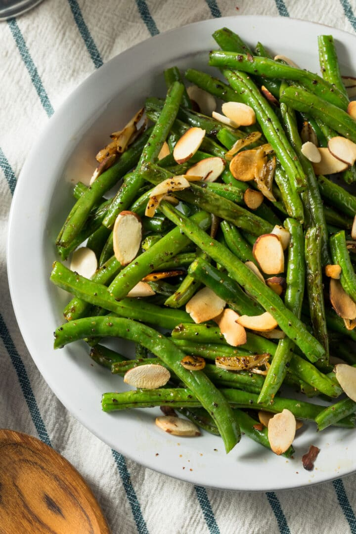 Sautéed Green Beans with brown butter and almonds