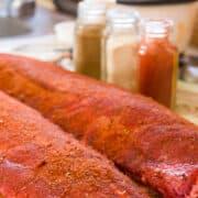seasoned 3 2 1 ribs 12x