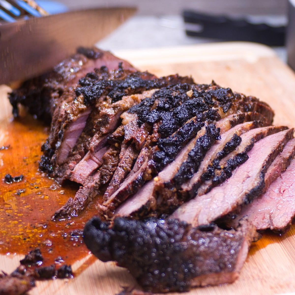 tips for smoking tri tip and carving