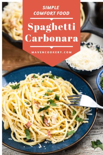 Spaghetti Carbonara #spaghetticarbonara #carbonara #easycomfortfood #simplecomfortfood #quickcomfortfood #coldweathercomfortfood #comfortfooddinner #familyfriendlymeals