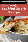 Stuffed Shells Recipe An outstanding comfort food stuffed shells recipe that is loaded with ricotta, mozzarella, parmesan, and herbs; baked with marinara sauce. #stuffedshells #stuffedshellsricotta #stuffedshellsmeat #stuffedshellsrecipe #stuffedshellsspinach #stuffedshellssausage #marinarasauce #ricotta #stuffedpasta #comfortfooddinners